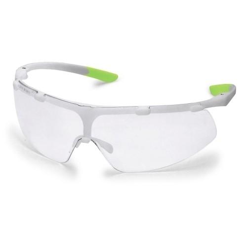 uvex Schutzbrille super fit, 9178315, weiß/lime, PC farblos