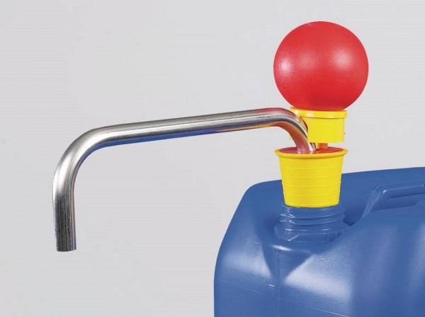OTAL Handpumpe mit Förderrohren aus Edelstahl, 26 l/min, Eintauchtiefe 900 mm