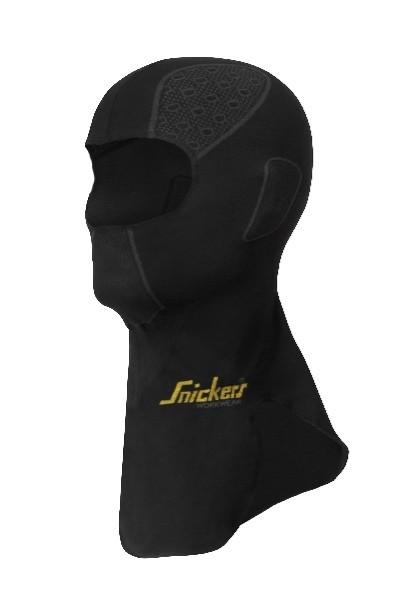 Snickers Workwear 9052 FlexiWork Nahtlose Balaklava, schwarz/grau