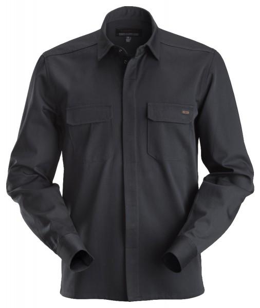 Dunderdon Berufsbekleidung Original Line SH2L Langarm-Arbeitshemd, schwarz
