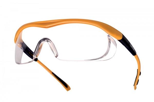 bolle Schutzbrille TARGA - TAPSI, klares PC, längenverstellbare, neigbare Bülgel, gelber Rahmen