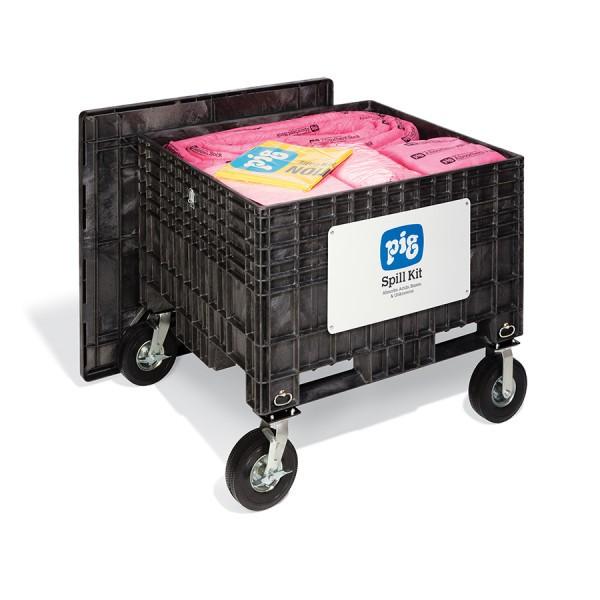 Extragroße Notfall-Transportkarre mit No-Flat-Reifen, Chemikalien, KIT304-01