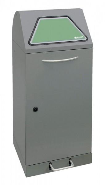 Stumpf Metall Abfalltrennung Modul-Vario 75, verzinkter Innenbehälter, 75 Liter, Trethebel