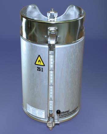 Original Salzkotten Sicherheits-Standgefäß Typ 215, 25 Liter mit Zapfhahn und Inhaltsanzeige