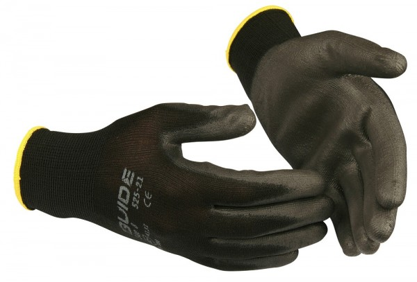 Sicherheitshandschuhe 525 Guide schwarz, mit PU-Teilbeschichtung