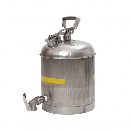 Eagle Sicherheitsbehälter 1327, 19 L, mit ECO-Hahn, rostfreier Stahl