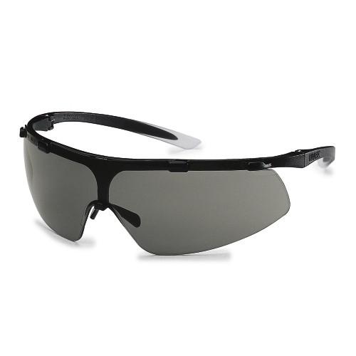 uvex Bügelbrille 9178286 super fit, schwarz/weiß, PC grau, beschlagfrei, kratzfest