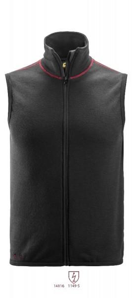 Snickers Workwear 4360 ProtecWork Wollfrotte-Weste, schwarz, antistatisch