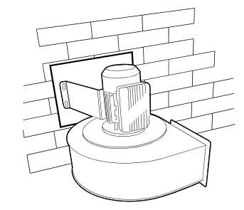 Fumex Montageplatte FBF 110 für Ventilatoren FB 037, FB 055, FB 075 und FB 110