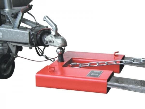 Bauer Rangierhilfen Typ RH aus Stahl mit Kupplungskugel, Einfahrtaschen für Gabelzinken