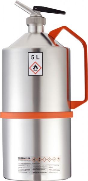 Rötzmeier Sicherheitskanne Typ 05D, 5 L, poliert