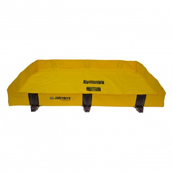 Justrite tragbare Faltwanne 28372, gelb, 451 L, 1,2 x 1,8 m, für schnelle Noteinsätze