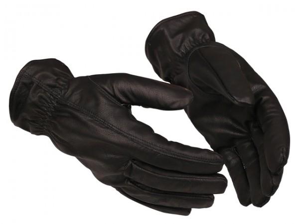 Schnittschutz-Handschuhe 2001 Guide schwarz aus weichem Leder, kurze Stulpe