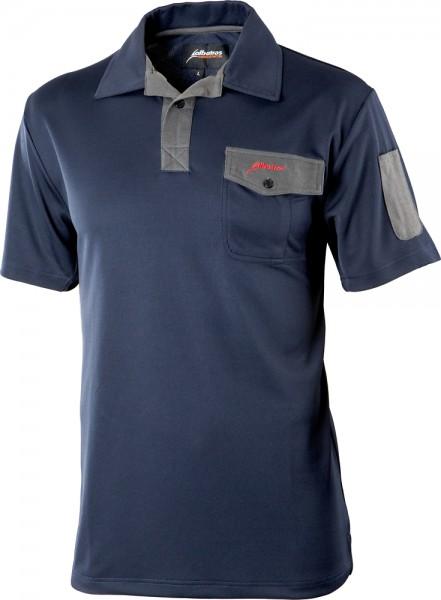 Albatros REFRESH Funktions-Polo-Shirt blau/grau