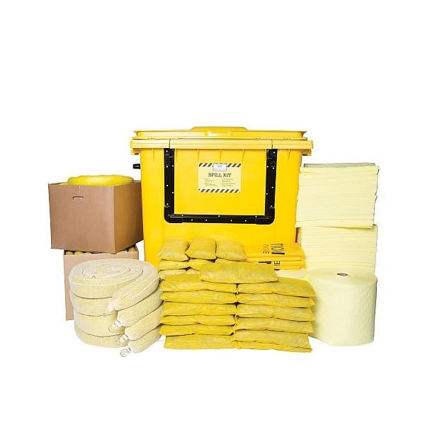 Essentials Chemikalien-Notfallkit - Rollcontainer mit Klapptür, CSKWB1000