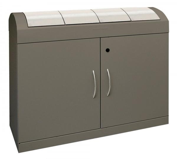 Stumpf Metall Abfalltrennung TD 4-aspect-plus, soft-mokka/Edelstahl, 4x 45 Liter