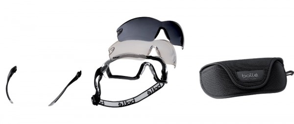 bolle KITCOBRA für COBRA Schutzbrillen, mit Schaumstoff, Kopfband, Bügel, 3 Gläser, Etui