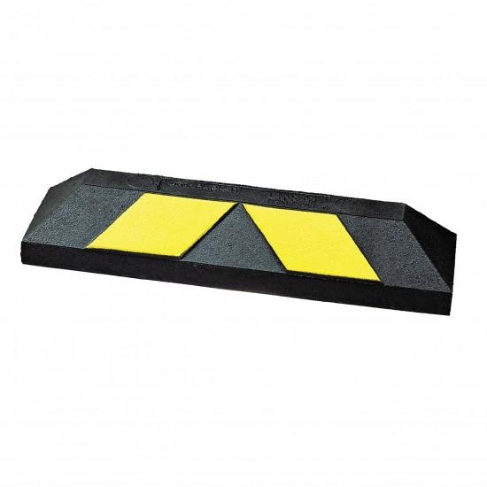 Checkers Home Park-It® Parkrahmen, Gummi, 55 x 15 x 10,16 cm, schwarz/gelb