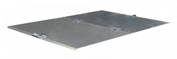Bauer 2-teiliger verzinkter Deckel für Kippbehälter Typ VD 650 / VG 700
