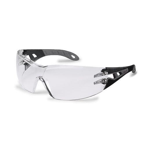 uvex Schutzbrille pheos s 9192282, schmal, schwarz/grau, PC farblos