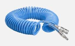 CleanAIR Spiral Druckluftschlauch 10m für Druckluftsysteme