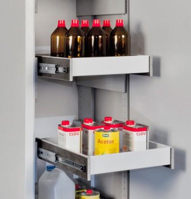 Priorit Vollauszug, EN32U-AZ, Stahlblech, für Untertisch-Sicherheitsschrank EN32U, Typ30