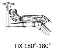 Fumex Deckenkonsole TIX 180 RF, Edelstahl, für Absaugarme R EX, R EXC, RZ EX und RZ EXC