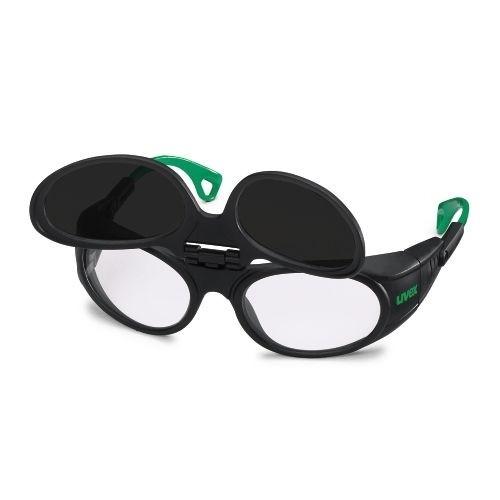 uvex Schweißerschutzbrille 9104046 Flip-Up, PC farblos, PC grau, Schutzstufe 6