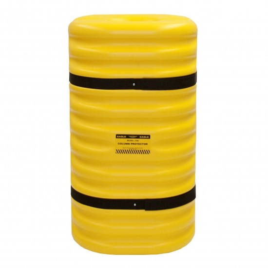 Eagle 1712 Säulenschutz, 61 x 61 x 106,7 cm, HDPE, gelb, für 30 cm Säulen