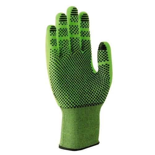 uvex Schnittschutzhandschuhe C500 dry lime/anthrazit für trockene Einsatzbereiche