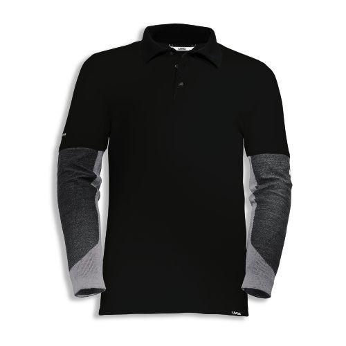 uvex Schutzbekleidung cut doubleflex Poloshirt 7924 schwarz mit Schnittschutzärmeln