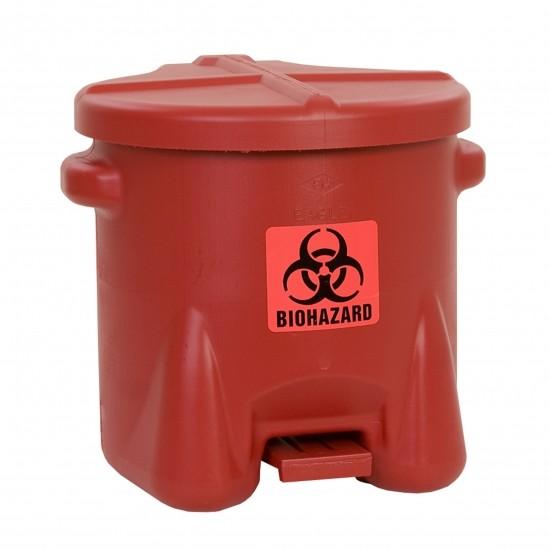 Eagle BioHazardous Entsorgungsbehälter 945BIO, 37,9 L, Polyethylen (PE), rot, mit Fußpedal