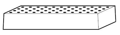 Lochblecheinsatz Höhe = 111 mm, Stahlblech pulverbeschichtet, für Sicherheitsschränke