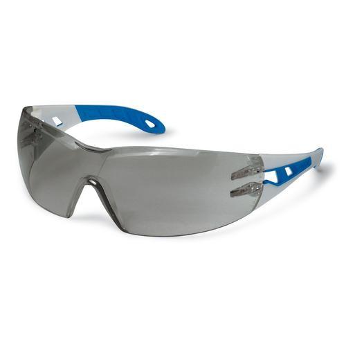 uvex Schutzbrille 9192727 pheos blue schmal, sand/blau, PC grau, kratzfest, beschlagfrei