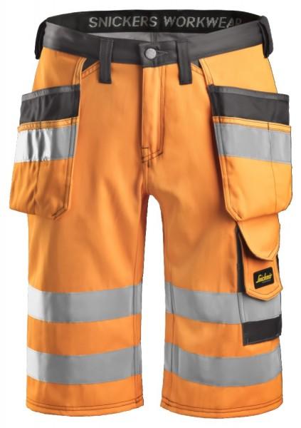 Snickers Workwear 3033 High-Vis Arbeitsshorts mit Holstertaschen, EN 20471 Klasse 1