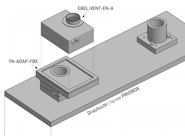 Priorit Adapter PA-ADAP-FBX für den Anschluss von EBEL:VENT-EN-A