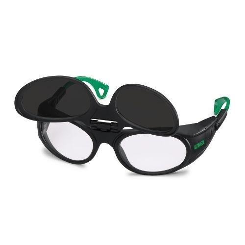 uvex Schweißerschutzbrille 9104045 Flip-Up, PC farblos, PC grau, Schutzstufe 5