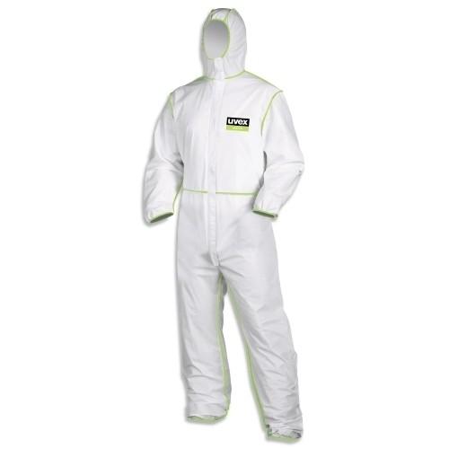 uvex Einweg Schutzbekleidung Overall 5/6 9877 comfort, weiß/lime