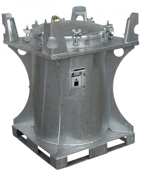Bauer Schadstoff-Container Typ SCD 240, feuerverzinkt, Internationale Beförderung flüssiger Güter