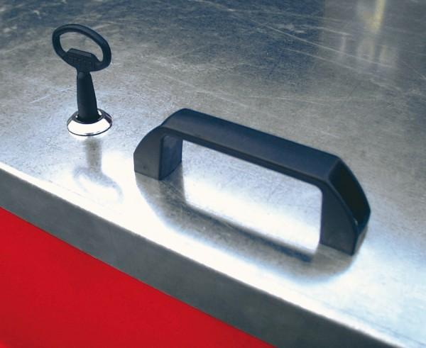 Bauer Vierkant- oder Zylinderschloss verzinkt, für Mobicont Typ M 800