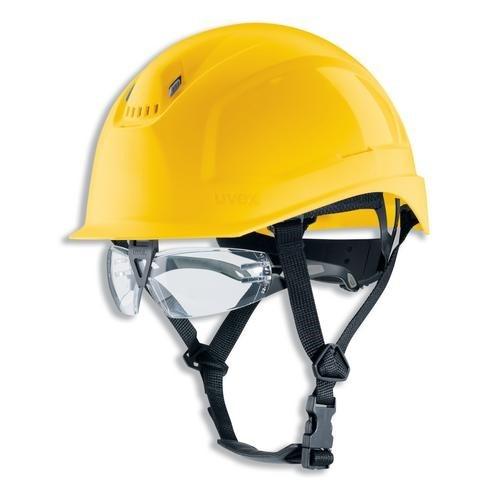 uvex Schutzhelm pheos S-KR IES gelb mit Brille pheos 9192.280