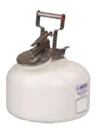 Justrite Selbstschließende Behälter, PE, rund, 19 Liter, weiß