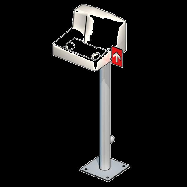 B-Safety PremiumLine Augen-/Gesichtsdusche BR 847 095, Auffangbecken, Bodenmontage