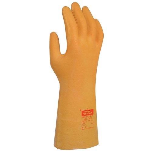 uvex Schutzhandschuhe Rubiflex NB 3501 mit Stulpe orange, vollbeschichtet