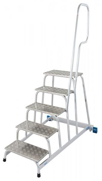 Krause STABILO Mobiler MontageTritt mit Aufstiegsbügel, Aluminium