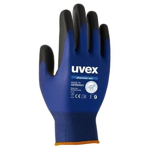 uvex Schutzhandschuhe phynomic wet blau/anthrazit wasserabweisend für Außenbereiche