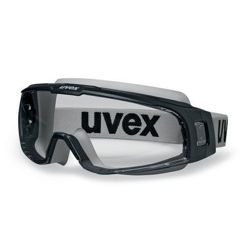 uvex Vollsichtbrille u-sonic 9308147 mit Kopfband, schwarz/grau, Öl & Gas