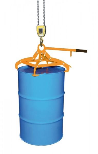 Bauer Fassgreifer Typ 4P für 200-l-Stahlfässer oder 220-l-Kunststoff-Ringfässer