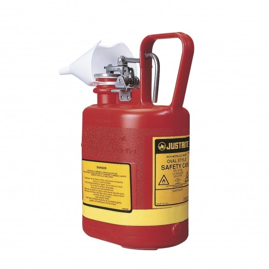 Justrite Poly-Sicherheitsbehälter Typ I, 4 Liter, oval, rot