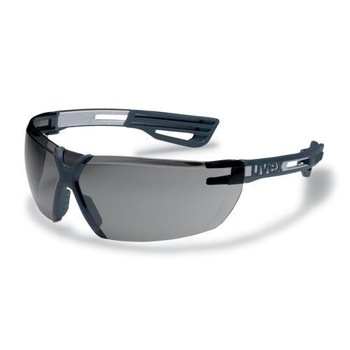 uvex Schutzbrille 9199276 x-fit pro anthrazit/hellgrau, PC grau, kratzfest, beschlagfrei